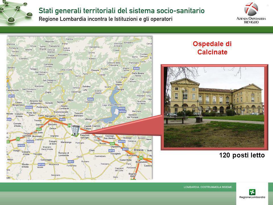 Ospedale di Calcinate 120 posti letto