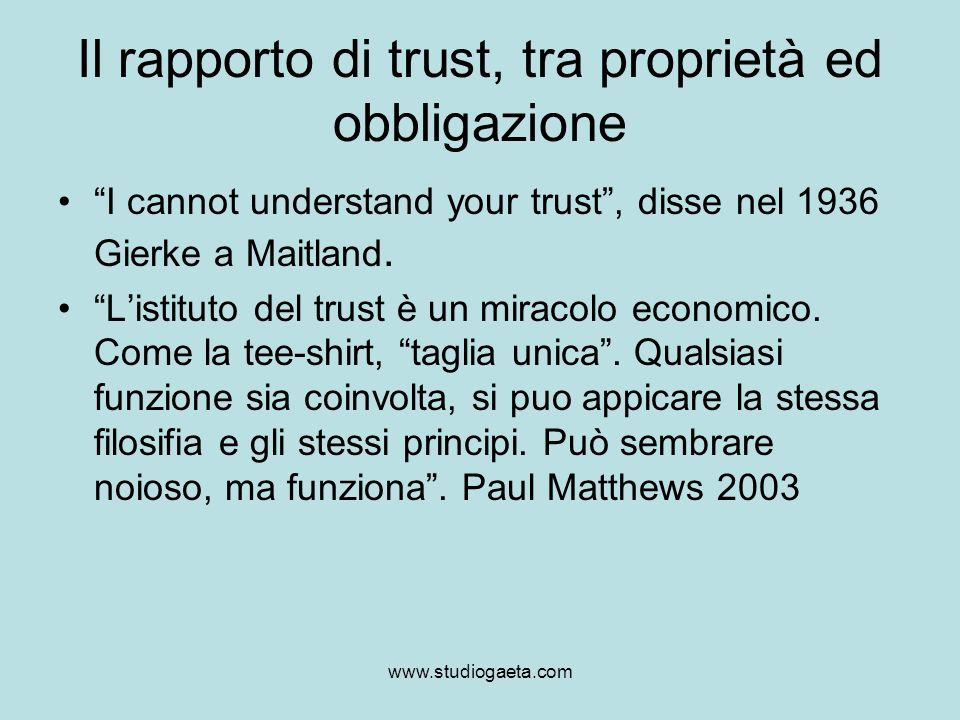 Il rapporto di trust, tra proprietà ed obbligazione