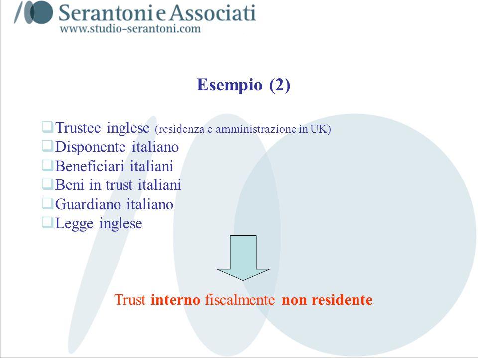 Trust interno fiscalmente non residente