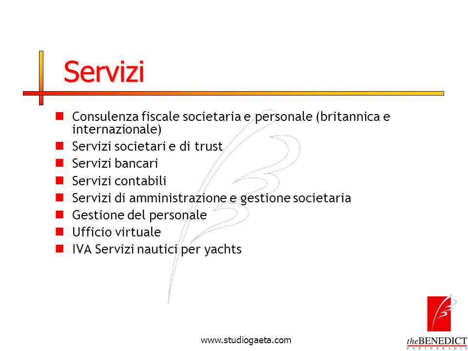 Servizi Consulenza fiscale societaria e personale (britannica e internazionale) Servizi societari e di trust.