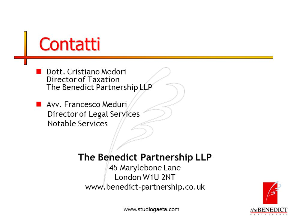 The Benedict Partnership LLP