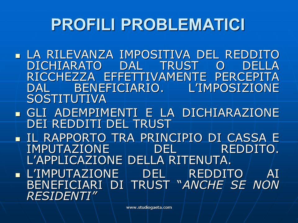 PROFILI PROBLEMATICI
