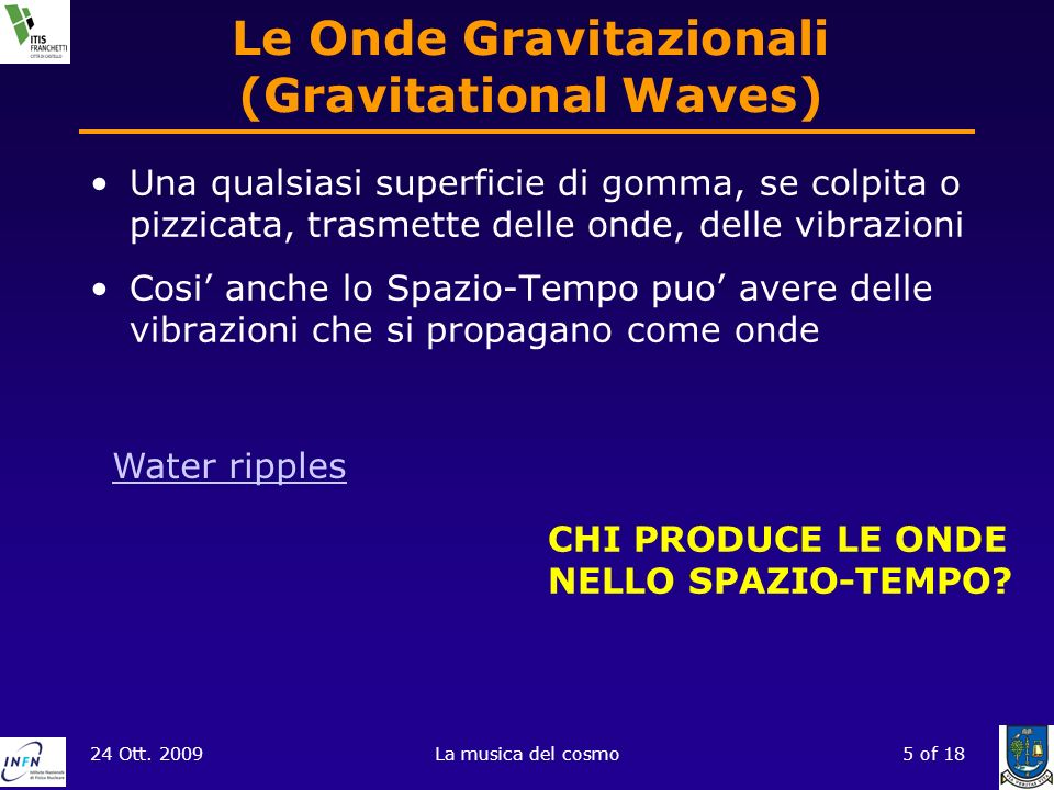 Le Onde Gravitazionali (Gravitational Waves)