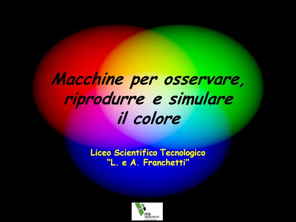 Macchine per osservare, riprodurre e simulare il colore Liceo Scientifico Tecnologico L.