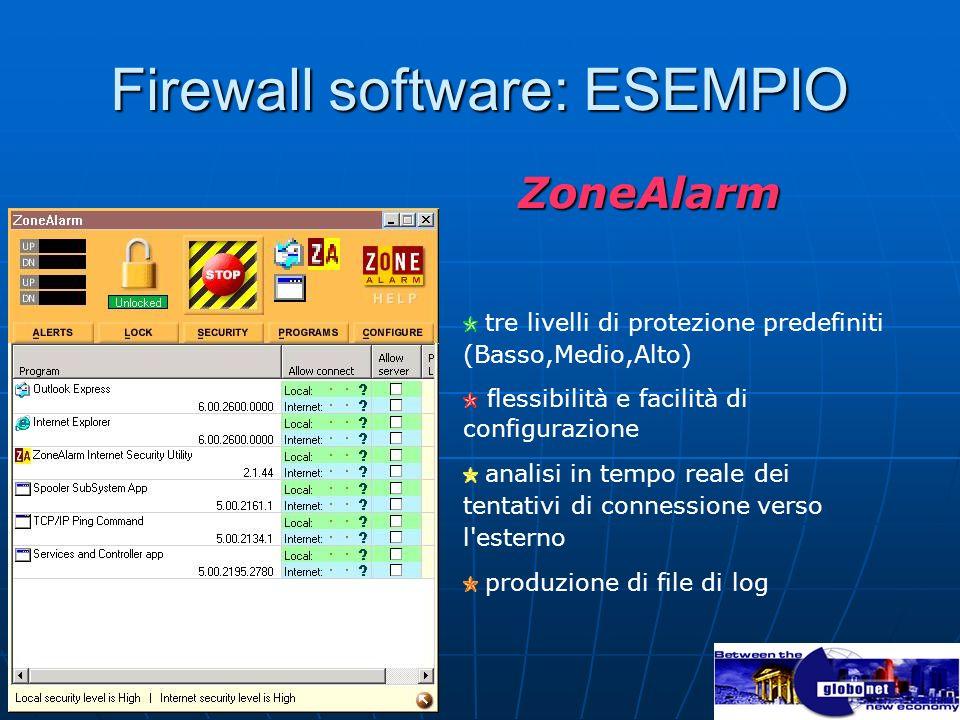 Firewall software: ESEMPIO