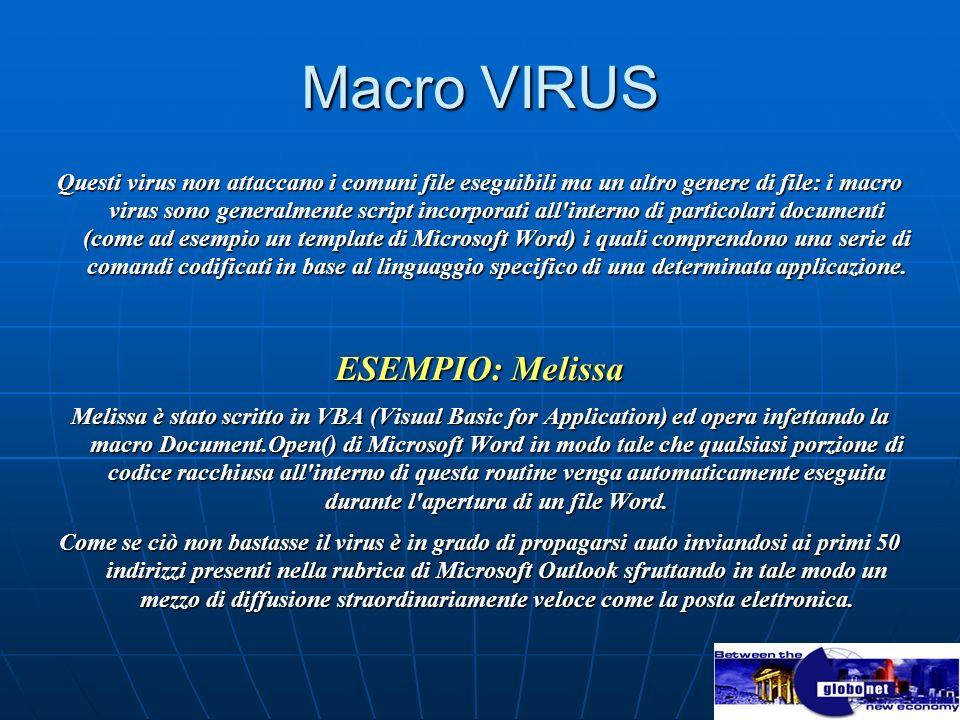 Macro VIRUS ESEMPIO: Melissa