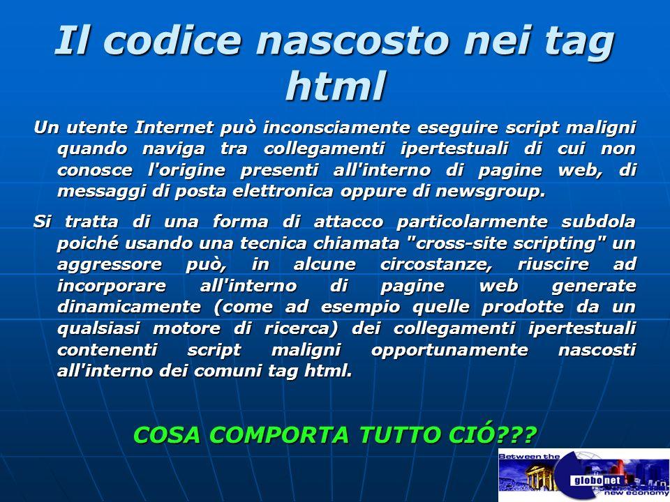 Il codice nascosto nei tag html