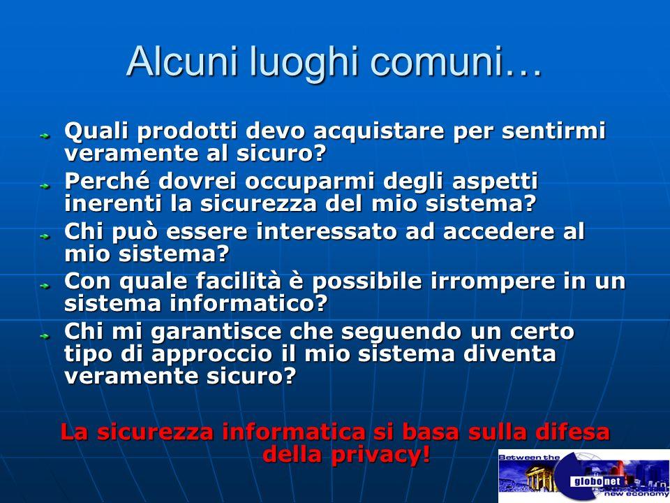 La sicurezza informatica si basa sulla difesa della privacy!