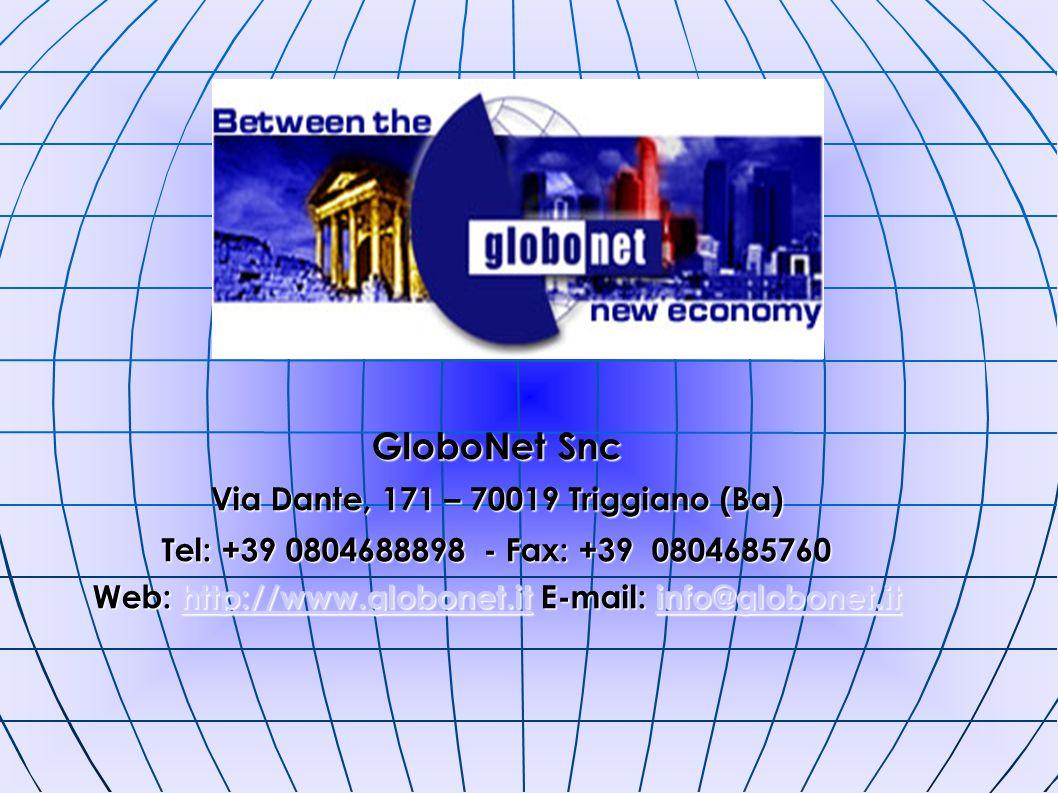 GloboNet Snc Via Dante, 171 – 70019 Triggiano (Ba)