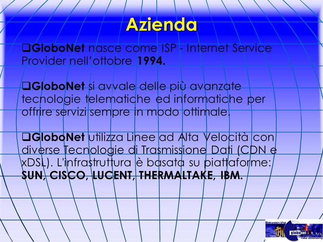 Azienda GloboNet nasce come ISP - Internet Service Provider nell'ottobre 1994.