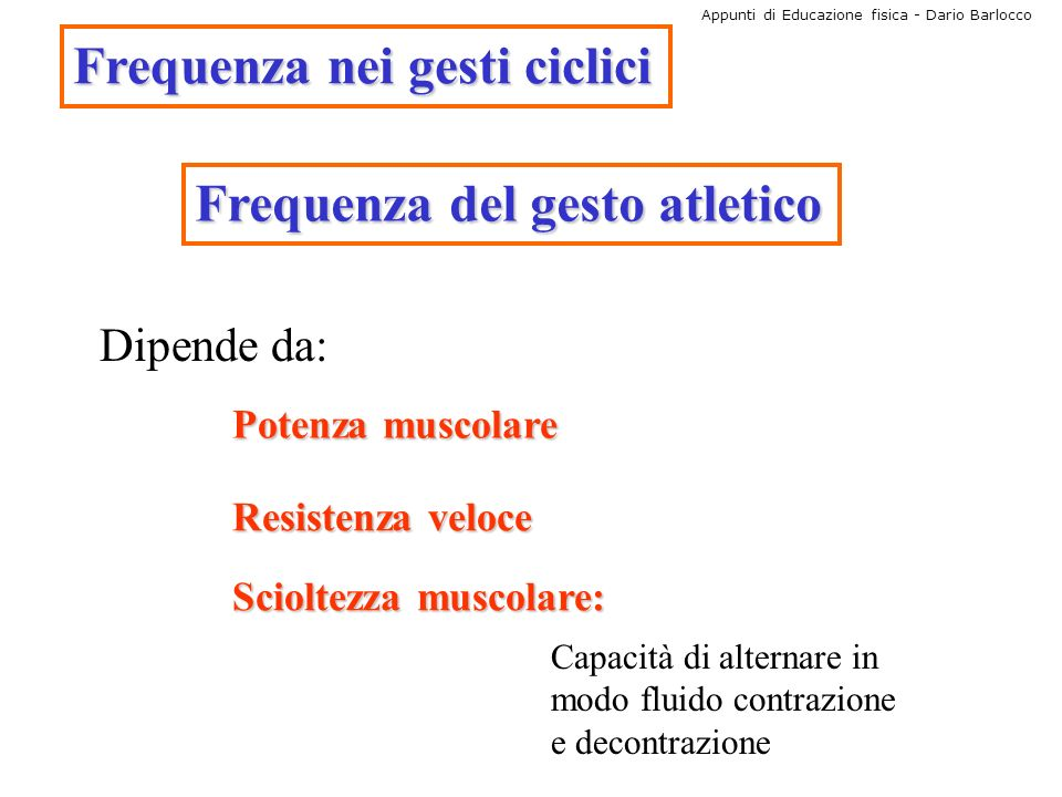 Frequenza nei gesti ciclici
