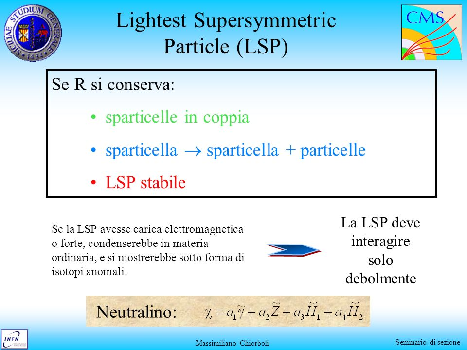 Lightest Supersymmetric Particle (LSP)