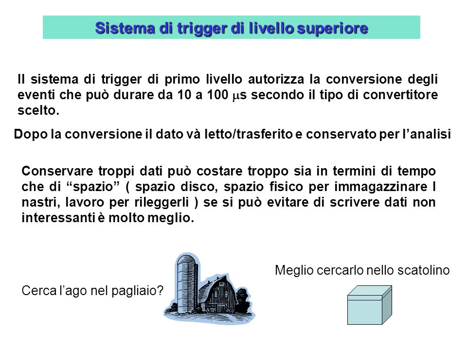 Sistema di trigger di livello superiore