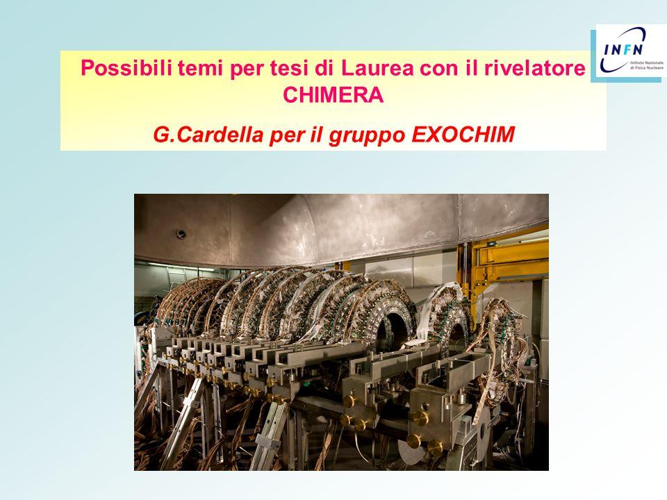 Possibili temi per tesi di Laurea con il rivelatore CHIMERA