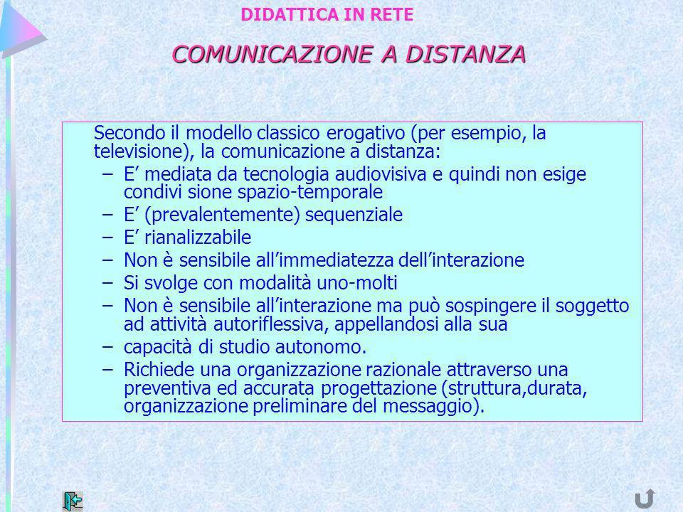 COMUNICAZIONE A DISTANZA