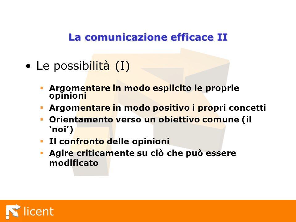 La comunicazione efficace II