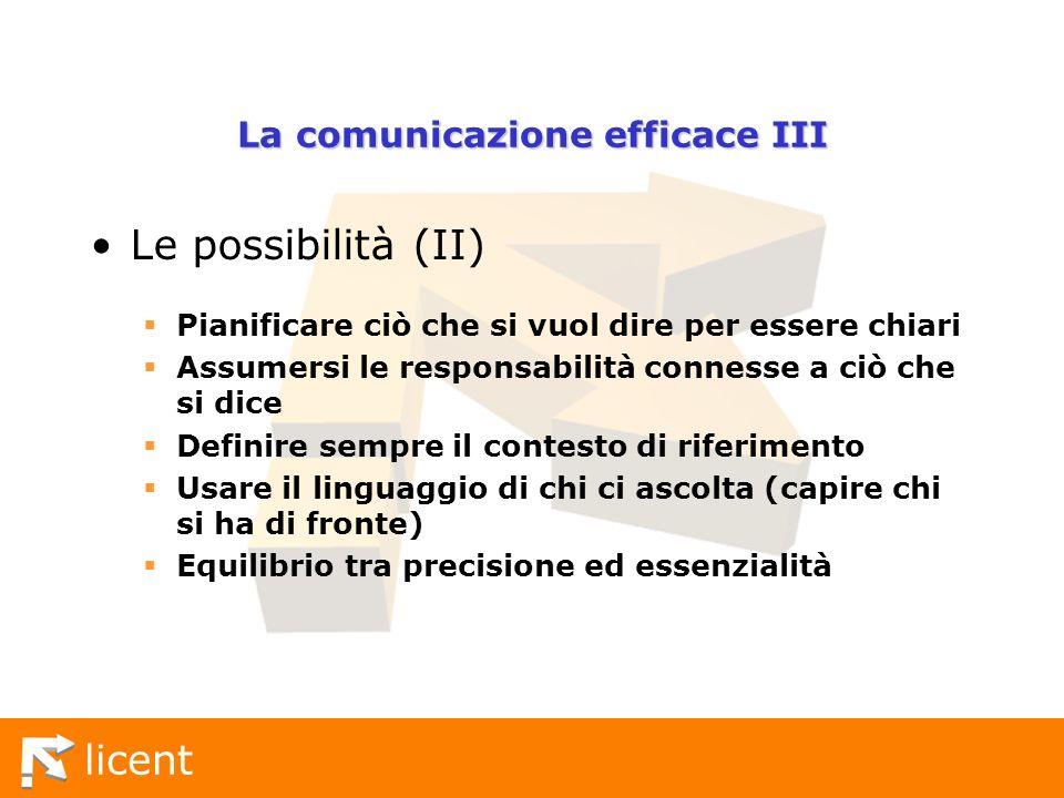 La comunicazione efficace III