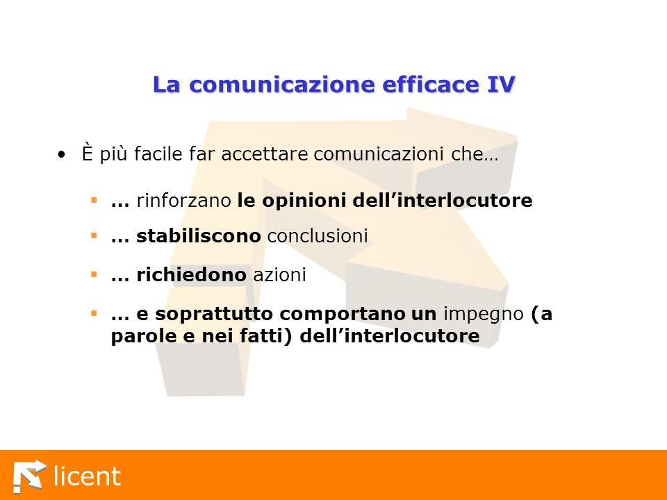La comunicazione efficace IV