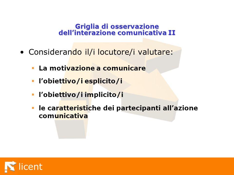 Griglia di osservazione dell'interazione comunicativa II