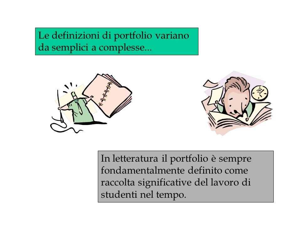 Le definizioni di portfolio variano da semplici a complesse...