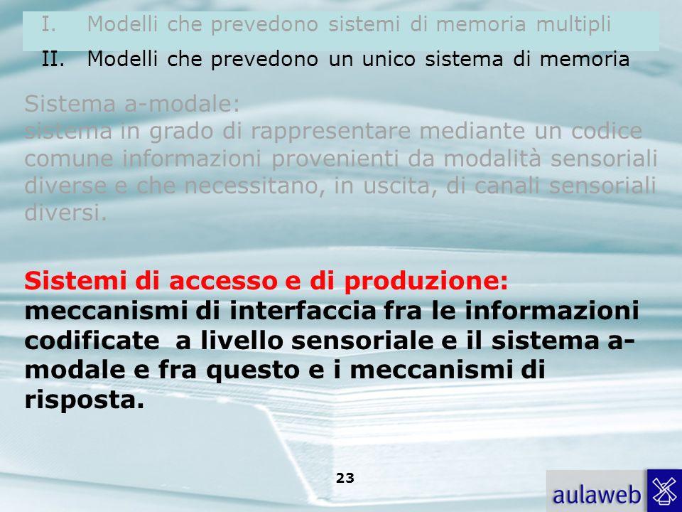 Sistemi di accesso e di produzione: