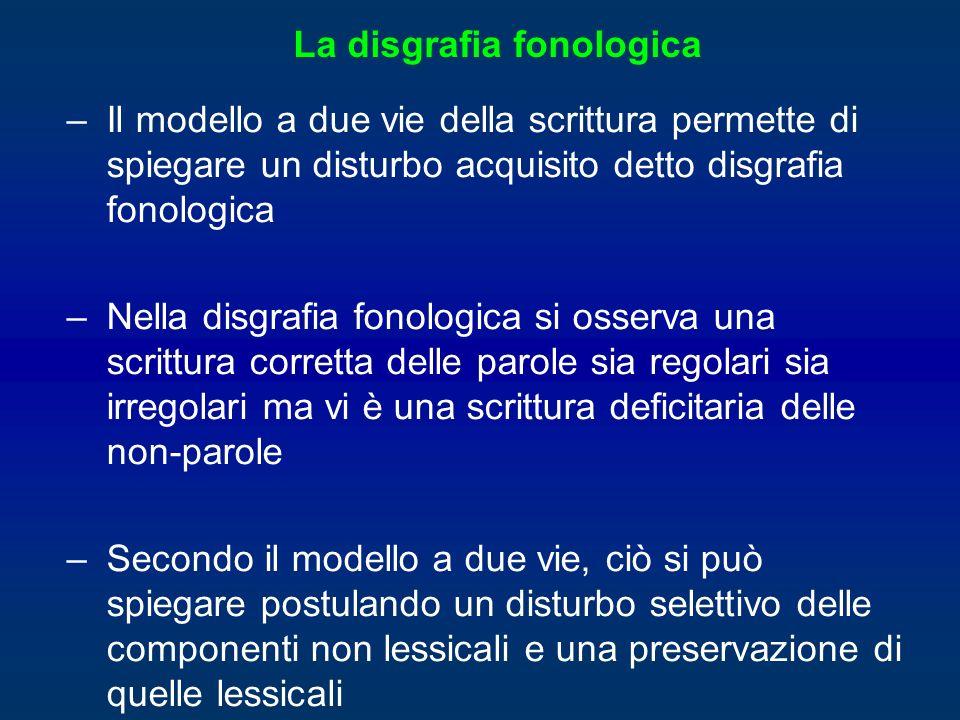 La disgrafia fonologica
