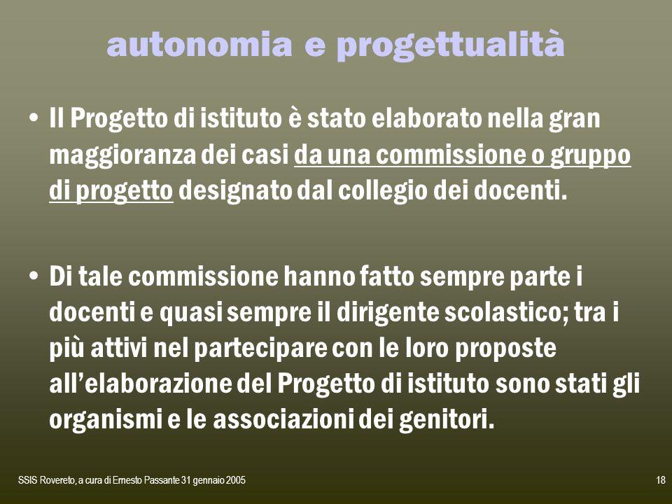 autonomia e progettualità