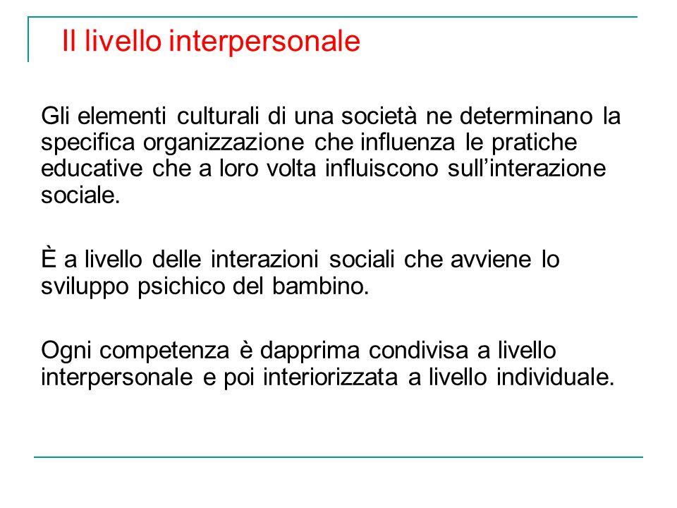Il livello interpersonale