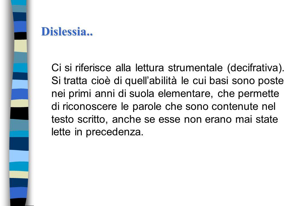 Dislessia..