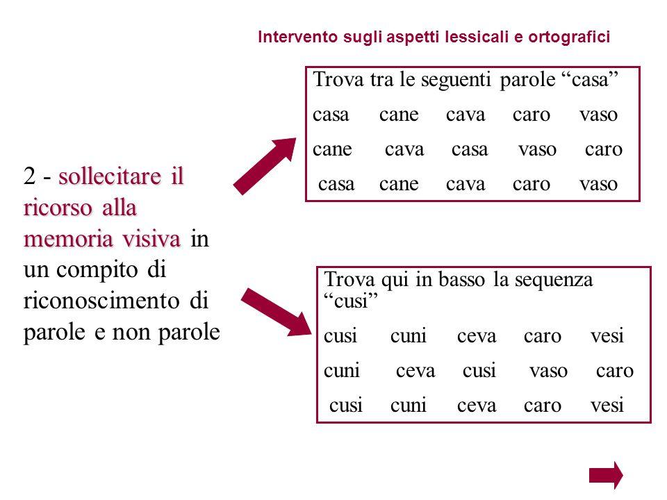 Intervento sugli aspetti lessicali e ortografici