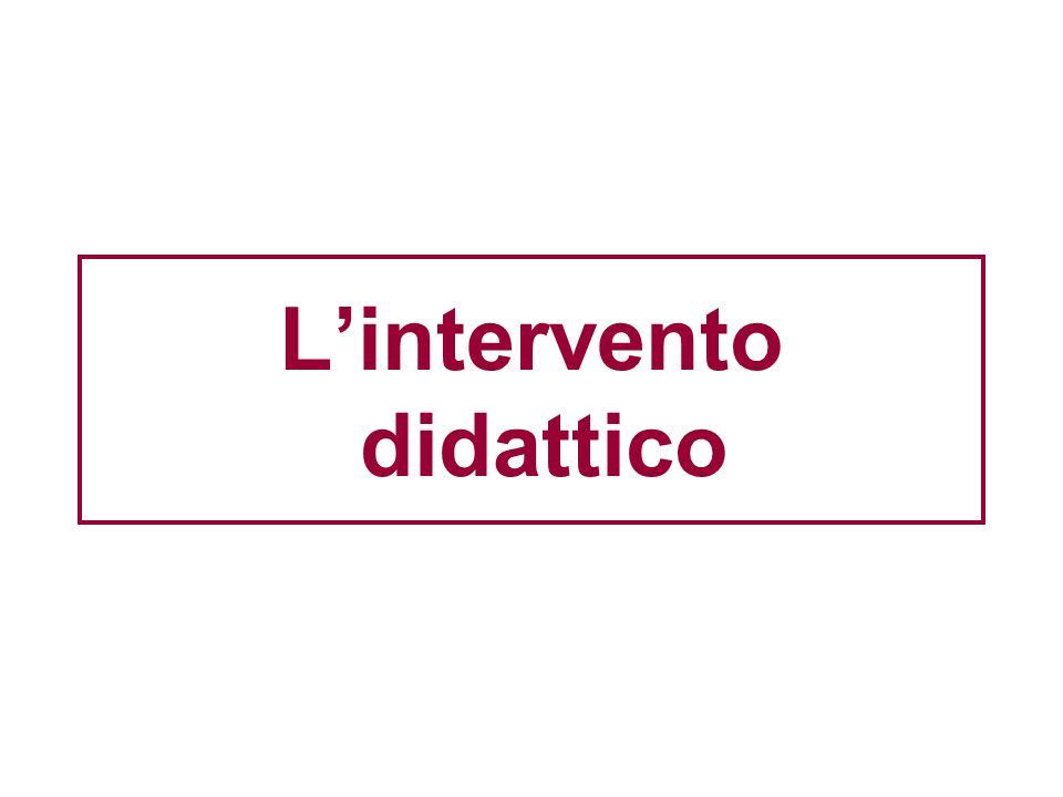 L'intervento didattico