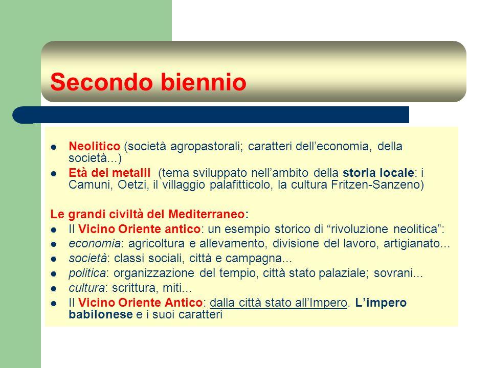 Secondo biennio Neolitico (società agropastorali; caratteri dell'economia, della società...)