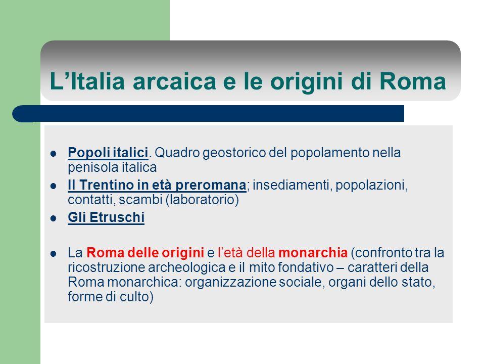 L'Italia arcaica e le origini di Roma