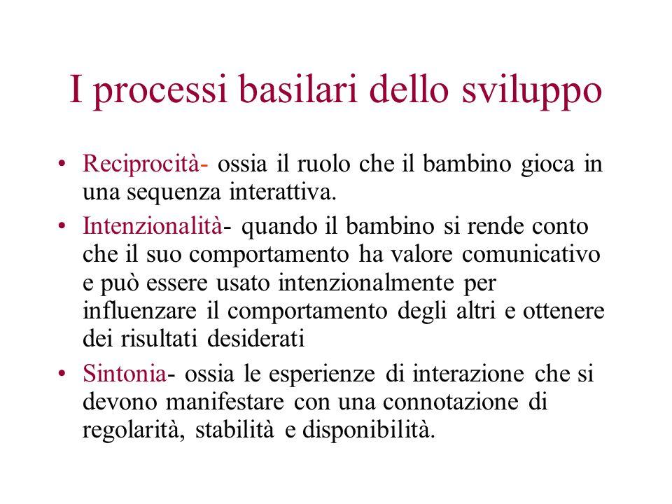 I processi basilari dello sviluppo