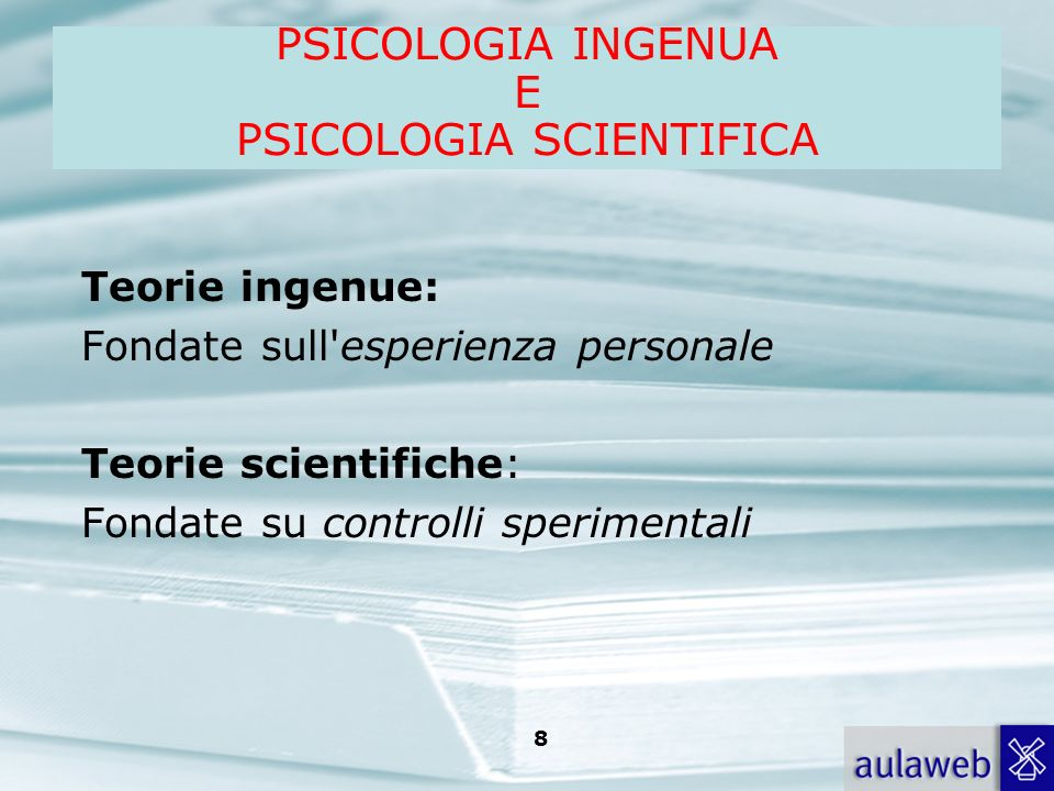 PSICOLOGIA SCIENTIFICA