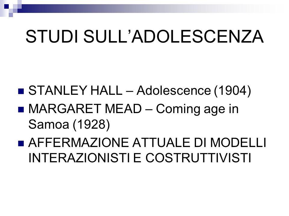 STUDI SULL'ADOLESCENZA