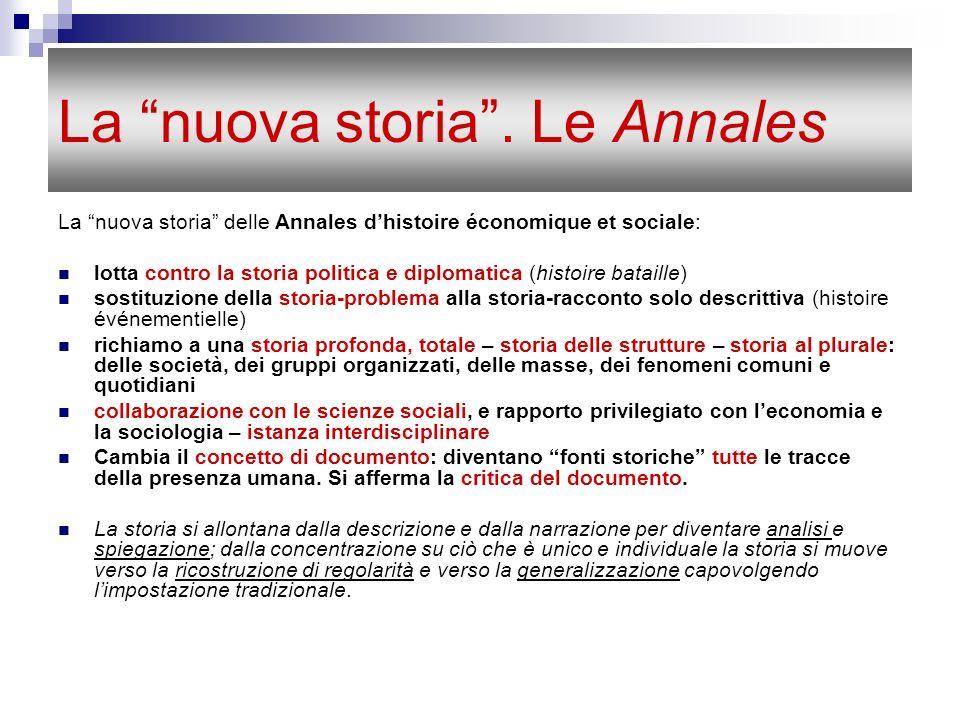 La nuova storia . Le Annales