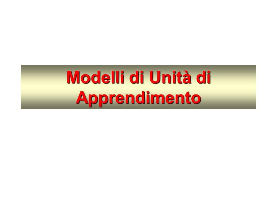 Modelli di Unità di Apprendimento