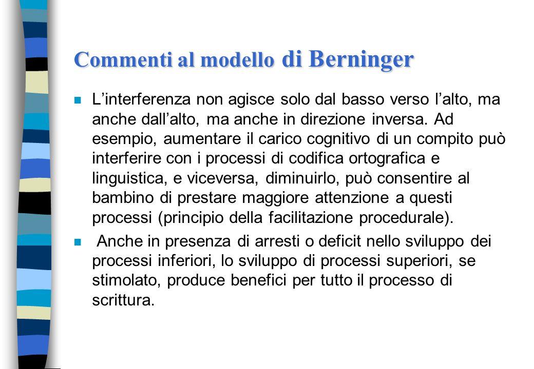Commenti al modello di Berninger