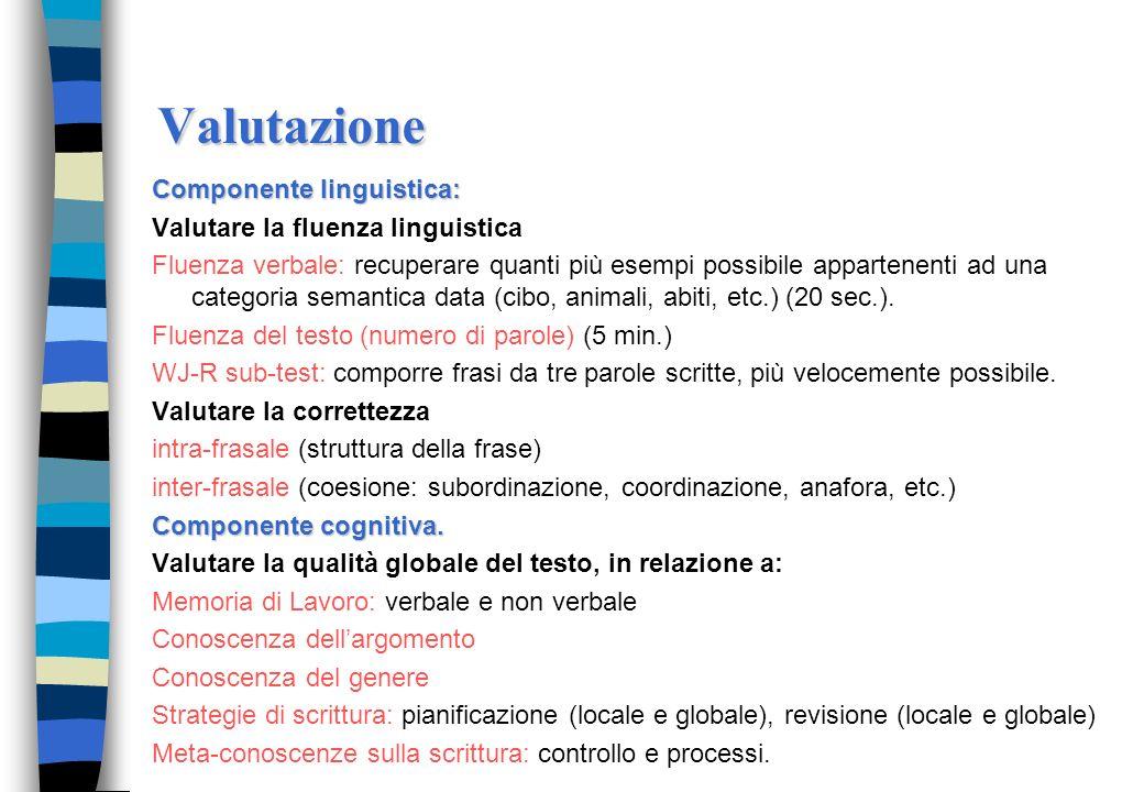 Valutazione Componente linguistica: Valutare la fluenza linguistica
