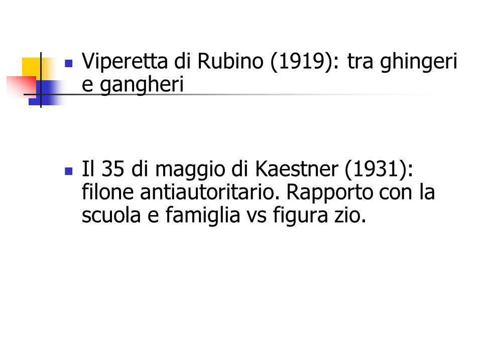 Viperetta di Rubino (1919): tra ghingeri e gangheri
