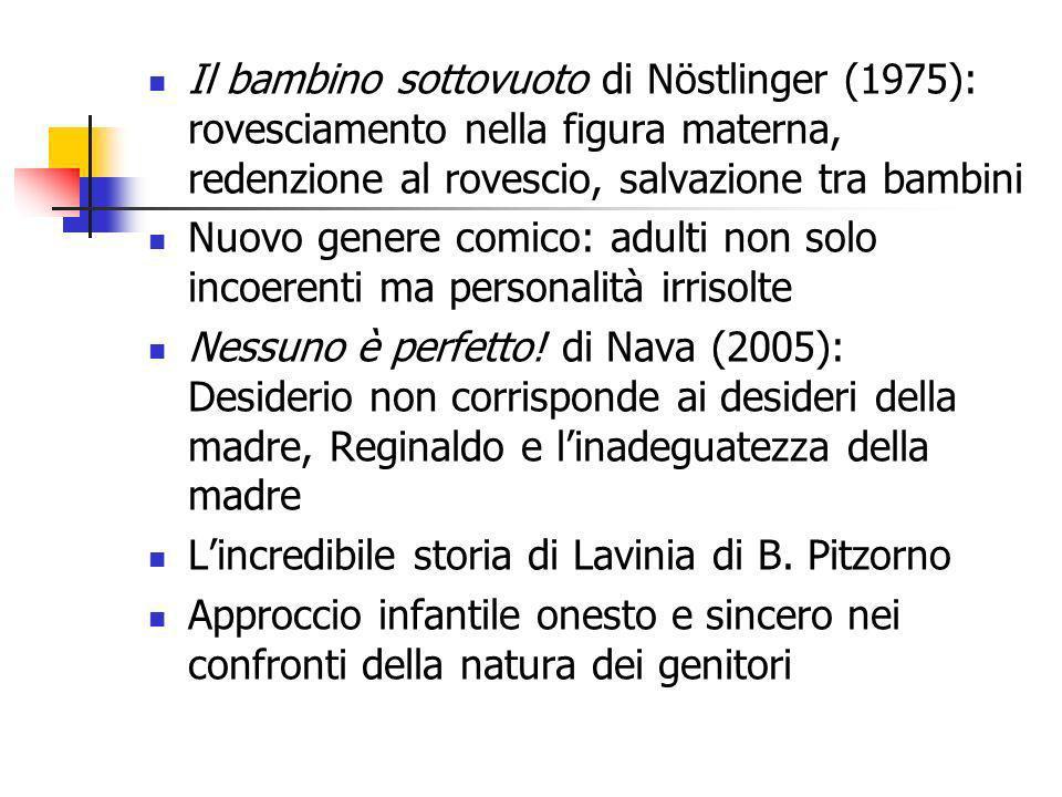 Il bambino sottovuoto di Nöstlinger (1975): rovesciamento nella figura materna, redenzione al rovescio, salvazione tra bambini