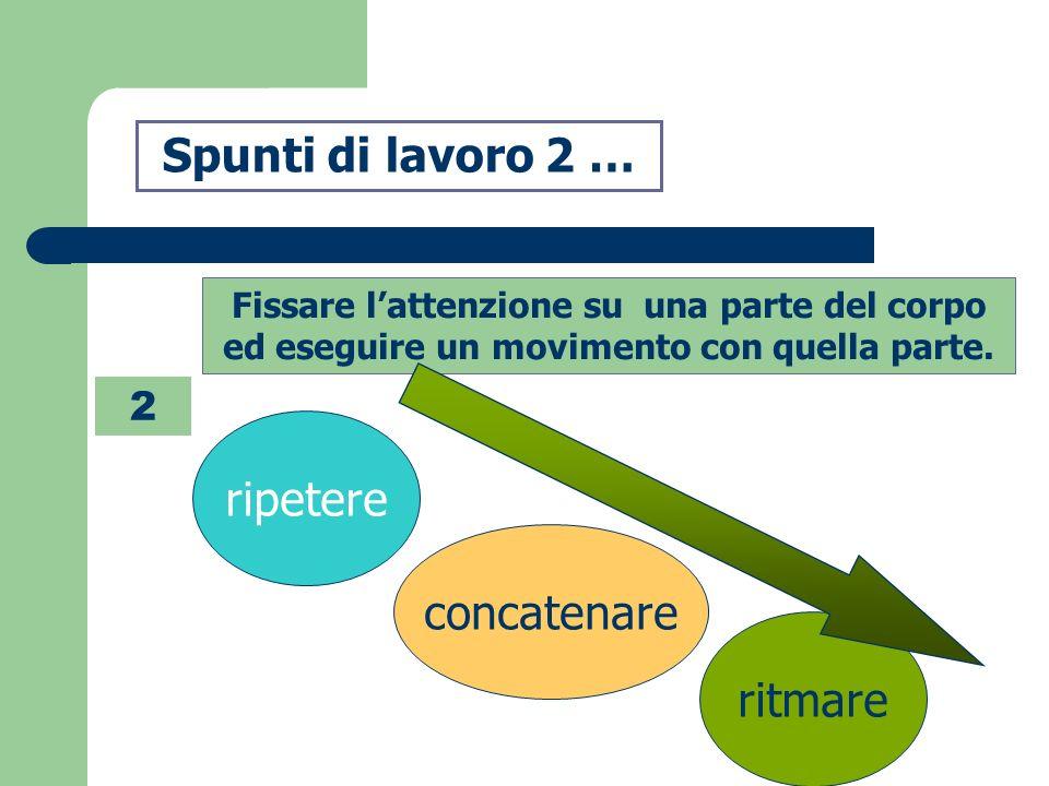 Spunti di lavoro 2 … ripetere concatenare ritmare 2