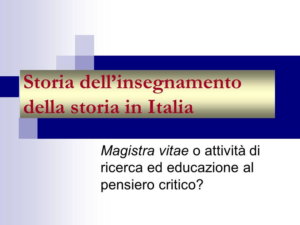 Storia dell'insegnamento della storia in Italia