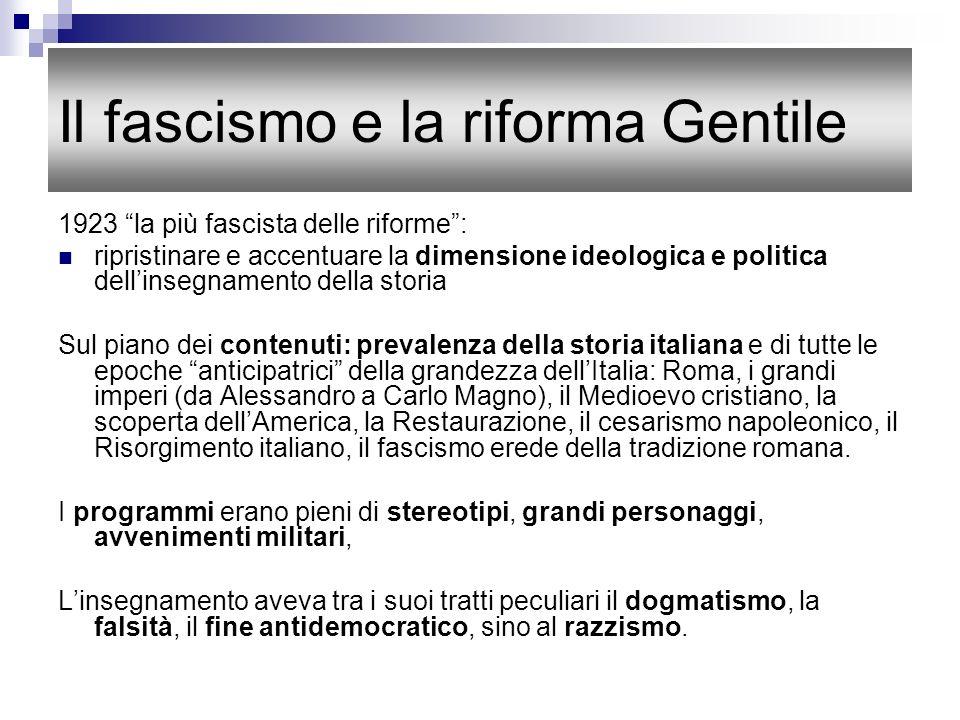 Il fascismo e la riforma Gentile