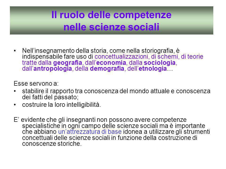 Il ruolo delle competenze nelle scienze sociali
