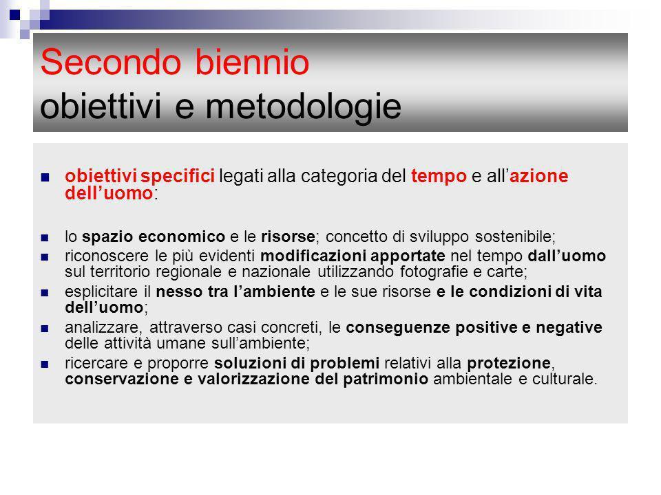 Secondo biennio obiettivi e metodologie