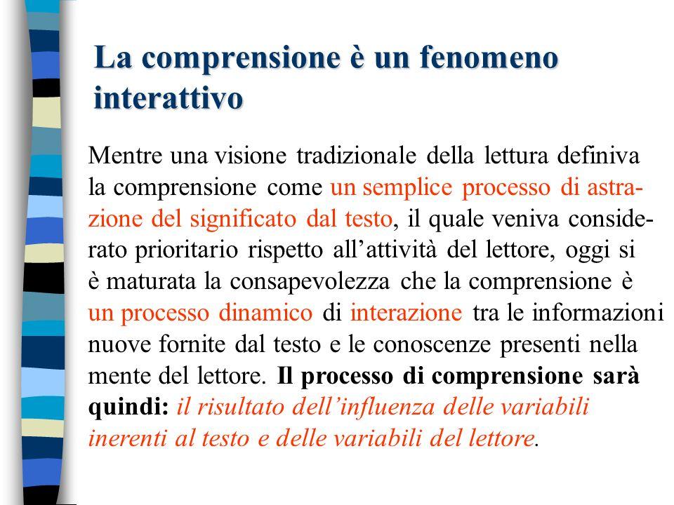 La comprensione è un fenomeno interattivo