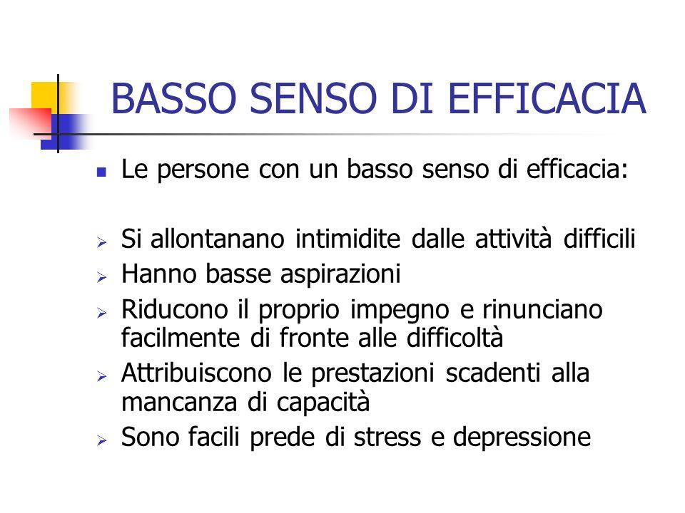 BASSO SENSO DI EFFICACIA