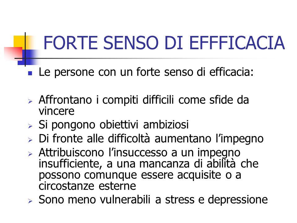 FORTE SENSO DI EFFFICACIA